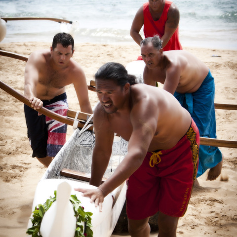 Traditional Hawaii By Canoe card image