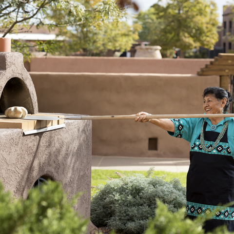 Making Pueblo Oven bread