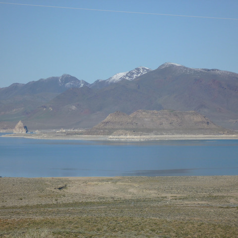 Pyramid Lake from a Distance