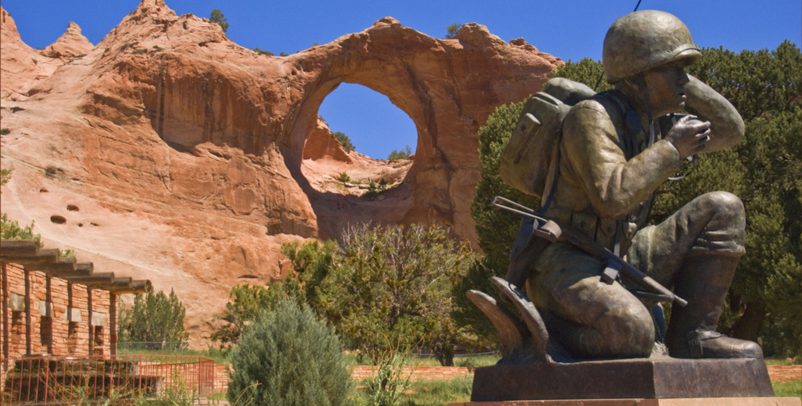 Window Rock and Code Talkers Monument