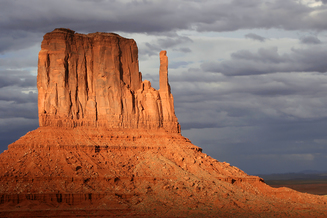 Card fit monument valley sunset thunderstorm