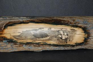 Card fit whale hunt scrimshaw on mastodon tusk copy