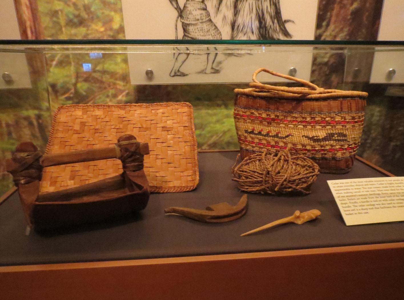 Hibulb cultural center   basket exhibit